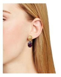 Tory Burch - Multicolor Epoxy Stone Drop Earrings - Lyst