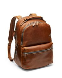 Shinola - Brown Distressed Runwell Backpack for Men - Lyst