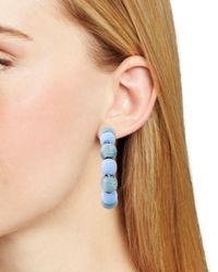 Aqua - Blue Ball Hoop Earrings - Lyst