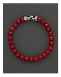 Scott Kay | Mens Red Tigerseye Bead Bracelet for Men | Lyst