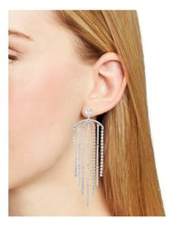 Nadri - Metallic Gloria Statement Fringe Earrings - Lyst