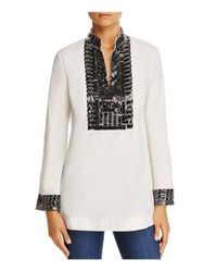 Tory Burch - White Silk Sequin Tunic - Lyst