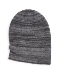Bloomingdale's - Gray Wool-cashmere Slouch Beanie for Men - Lyst