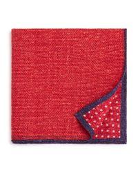Bloomingdale's - Red Dot/box Weave Pocket Square for Men - Lyst