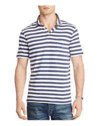 Polo Ralph Lauren - Blue Classic Striped Cotton Polo for Men - Lyst
