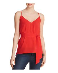 French Connection - Red Dalma Self-tie Sash Top - Lyst