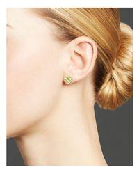 Bloomingdale's - Multicolor Peridot And Diamond Stud Earrings In 14k White Gold - Lyst