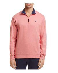 Vineyard Vines - Pink Quarter-zip Cotton Sweater for Men - Lyst