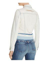 J Brand - White Deena Denim Jacket In Ecstasy - Lyst
