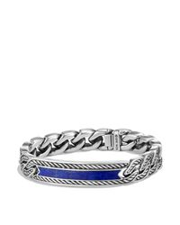 David Yurman - Blue Maritime Curb Link Id Bracelet With Lapis Lazuli - Lyst