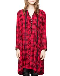 Zadig & Voltaire - Red Ramara Car Dress - Lyst