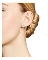 Bloomingdale's - Metallic 14k Yellow Gold Circle And Stick Earrings - Lyst
