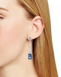 Carolee - Blue Long Linear Drop Earrings - Lyst