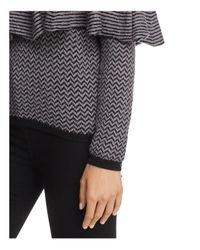 BB Dakota - Gray Debney Ruffle Cold-shoulder Sweater - Lyst
