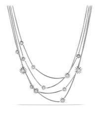 David Yurman - Metallic Starburst Chain Necklace With Diamonds - Lyst