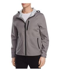 Cole Haan - Gray Waterproof Hooded Jacket for Men - Lyst