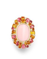 David Yurman - Mustique Statement Ring With Pink Opal, Citrine, Pink Tourmaline And Diamonds In 18k Gold - Lyst