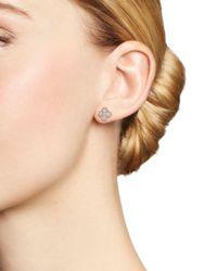 Bloomingdale's Multicolor Diamond Clover Stud Earrings In 14k Rose Gold, 1.0 Ct. T.w.