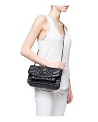 Zadig & Voltaire - Black Skinny Love Scales Quilted Leather Crossbody - Lyst