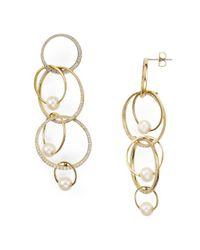 Nadri - Metallic Pavé Overlapping Earrings - Lyst
