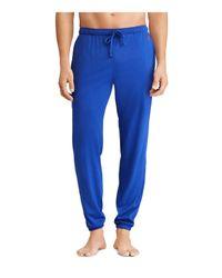 Polo Ralph Lauren - Blue Knit Lounge Pants for Men - Lyst