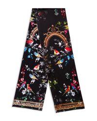 Ted Baker - Black Omasi Opulent Fauna Print Silk Skinny Scarf - Lyst