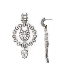 Aqua - Metallic Galante Statement Earrings - Lyst