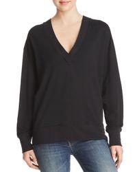 Rag & Bone - Black V-neck Sweatshirt - Lyst