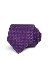John Varvatos - Purple Tonal Circles Classic Tie for Men - Lyst