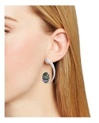 Robert Lee Morris - Multicolor Abalone Curve Earrings - Lyst