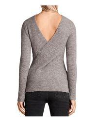 AllSaints - Gray Faria Sweater - Lyst