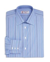 Turnbull & Asser | Blue Multi Stripes Classic Fit Dress Shirt for Men | Lyst