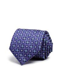 Canali | Purple Large Floret Classic Tie for Men | Lyst