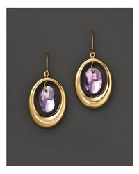 Bloomingdale's - Metallic 14k Yellow Gold Large Orbit Earrings With Amethyst - Lyst
