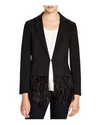 Lucy Paris - Black Feather Trim Blazer - Bloomingdale's Exclusive - Lyst