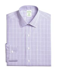 Brooks Brothers - Men's Milano Extra-slim Fit Non-iron Purple Plaid Dress Shirt for Men - Lyst