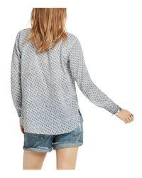 Scotch & Soda - Gray Mini Print Summer Shirt - Lyst