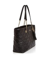 Kate Spade - Black Emerson Place Priya Quilted Leather Tote - Lyst
