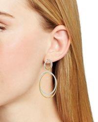 Nadri - Metallic Pavé Large Drop Hoop Earrings - Lyst