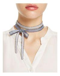 Chan Luu - White Dip-dye Necktie - Lyst