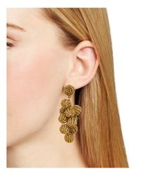 Aqua - Metallic Beaded Cluster Drop Earrings - Lyst