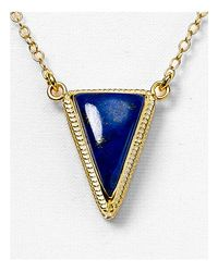 "Anna Beck - Blue Lapis Triangle Pendant Necklace, 16"" - Lyst"