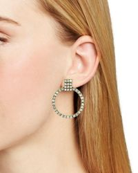 BaubleBar - Metallic Gemma Pavé Loop Drop Earrings - Lyst