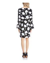 Karen Kane - Black Printed Bell Sleeve Dress - Lyst