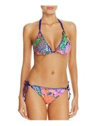 Trina Turk | Multicolor Tropical Escape Triangle Bikini Top | Lyst