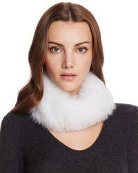 Maximilian White Fox Fur Knit Headband
