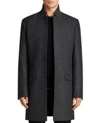 AllSaints - Gray Meka Coat for Men - Lyst