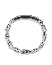 David Yurman - Metallic Modern Cable Id Bracelet With Black Diamonds for Men - Lyst
