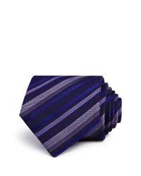 John Varvatos - Purple Multi Stripe Classic Tie for Men - Lyst