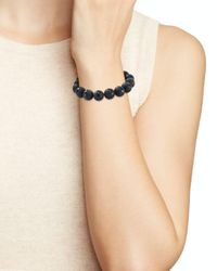Bourbon and Boweties - Black Stretch Bracelet - Lyst